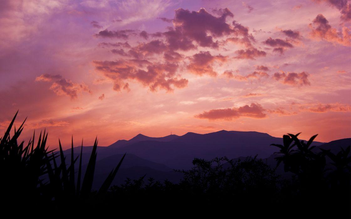 Spanish sunset wallpaper