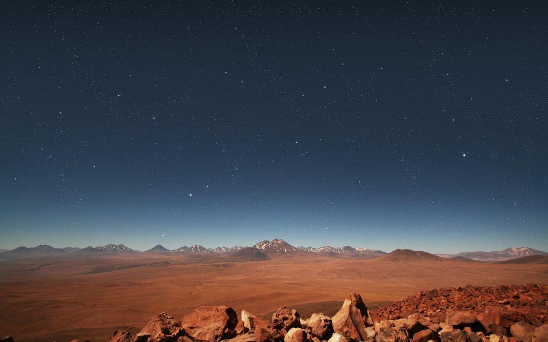 Stars over the desert wallpaper