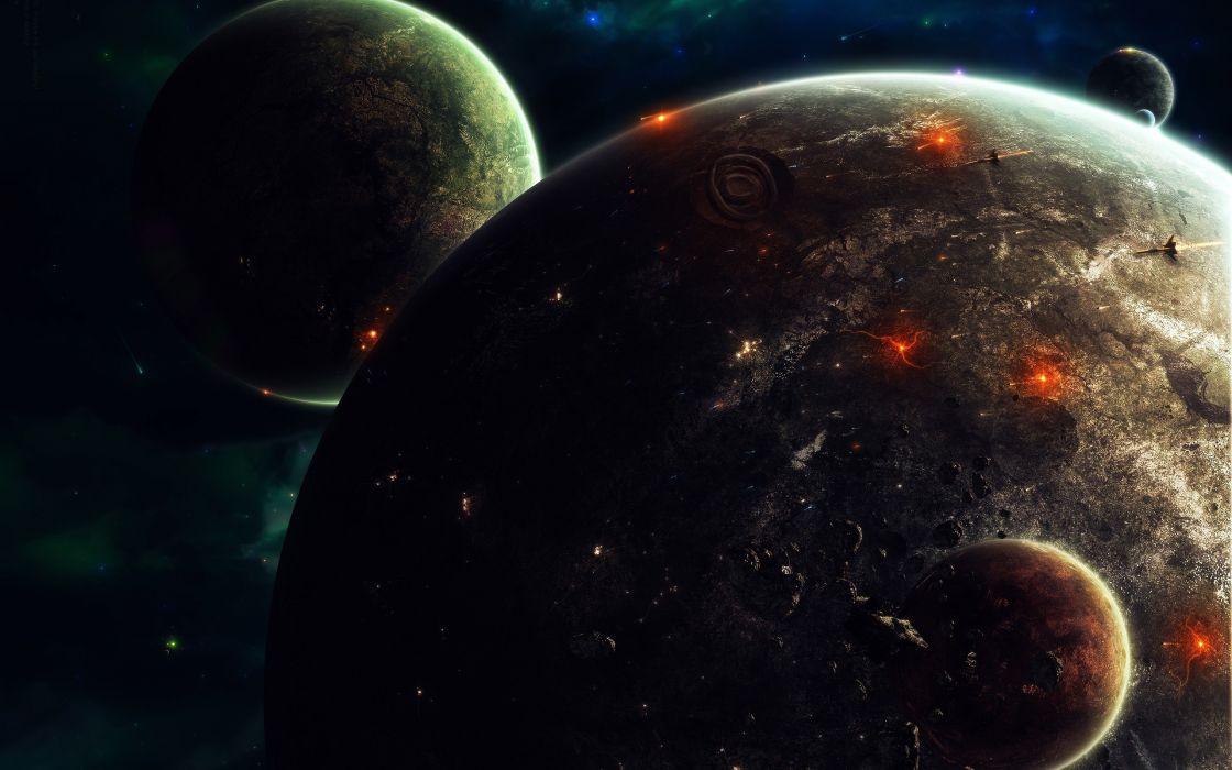 Alien planet - art wallpaper