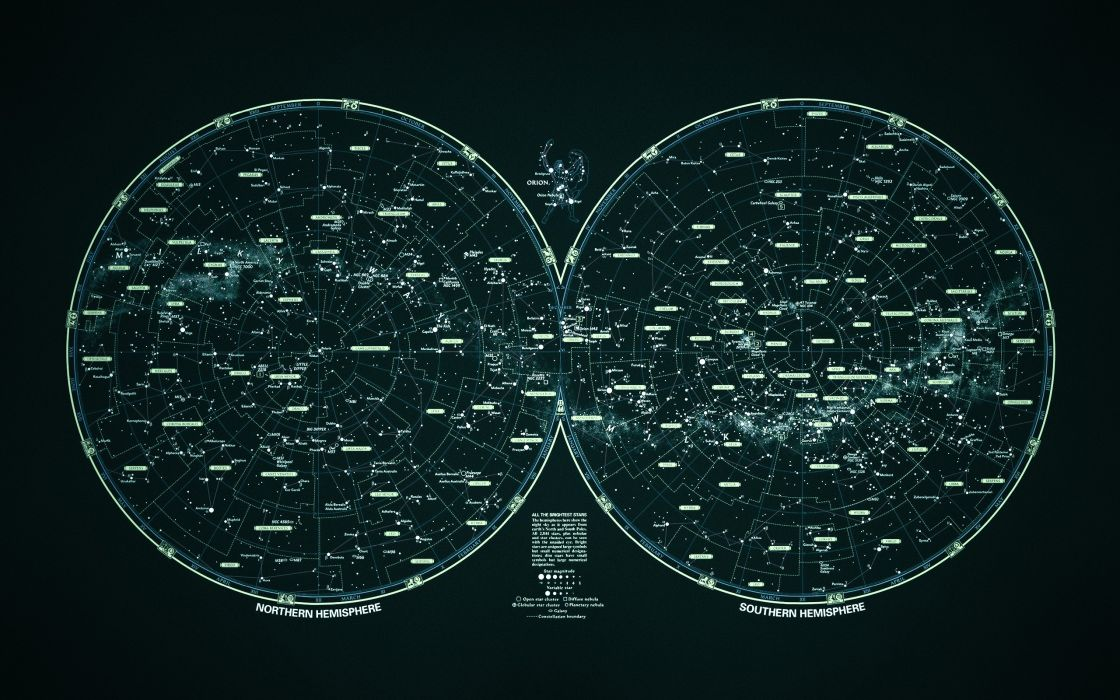 Star map poster wallpaper