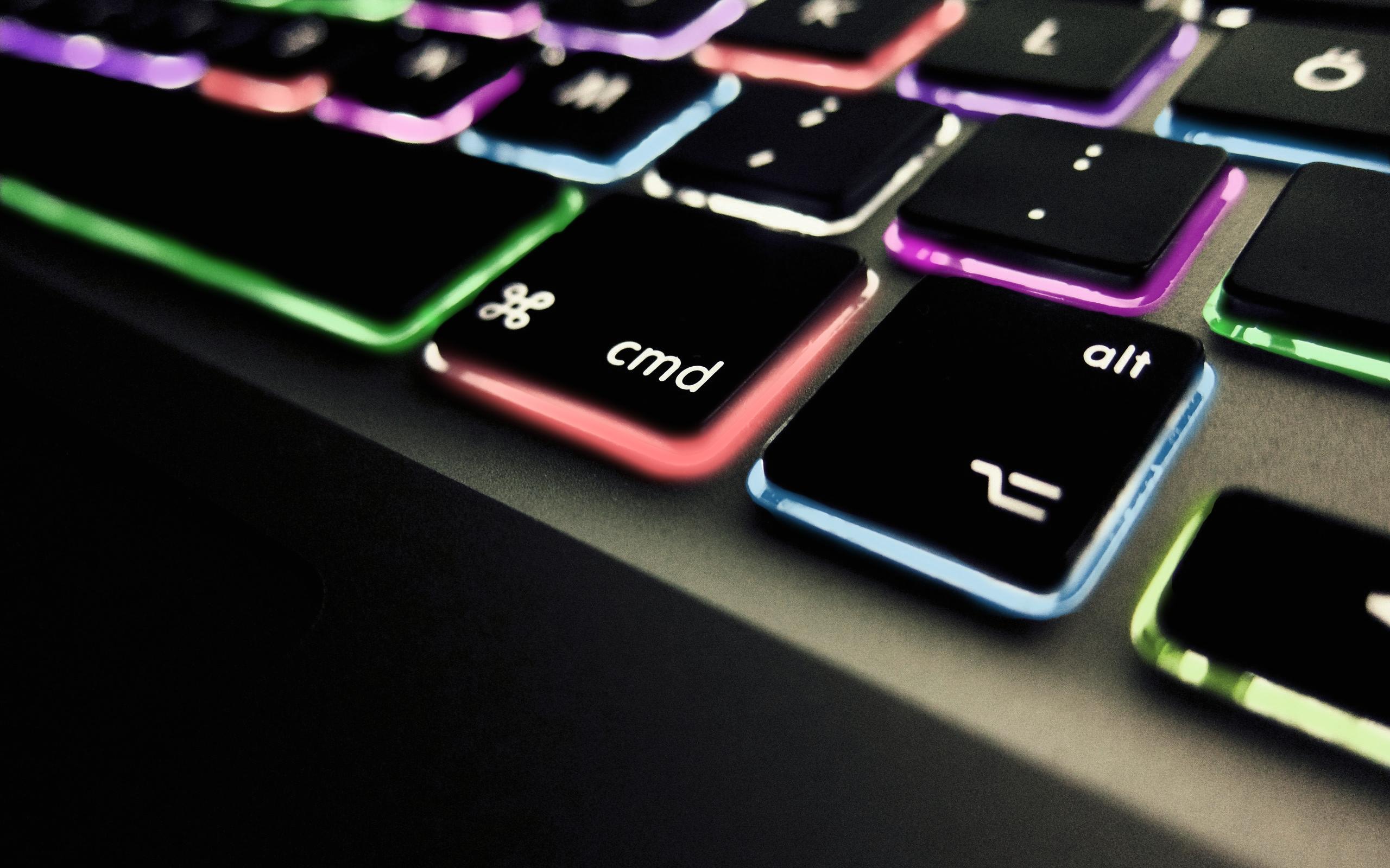 Coloured Apple Macbook Pro Keyboard Wallpaper 2560x1600 2672