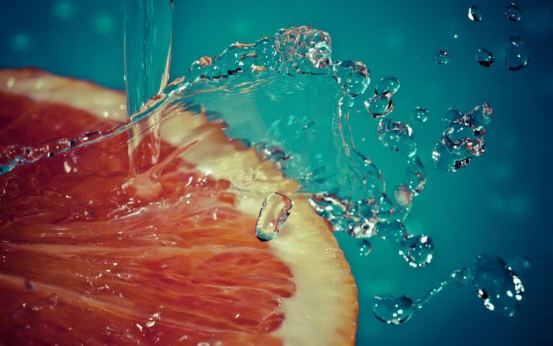 Orange and water wallpaper