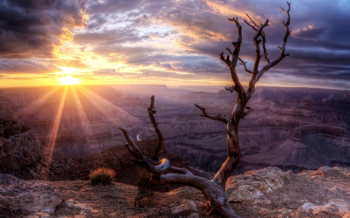 Sunrise at the Grand Canyon wallpaper