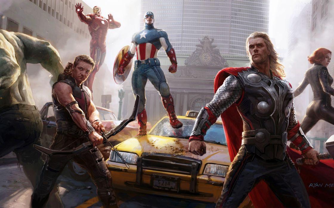 The Avengers - Concept Art wallpaper