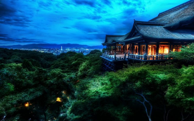 Kyoto at night - Japan wallpaper