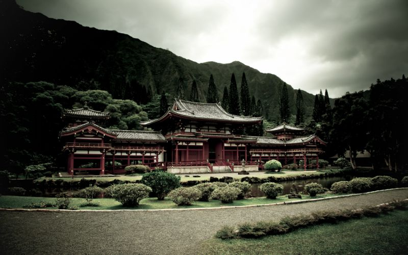 Japanese temple wallpaper