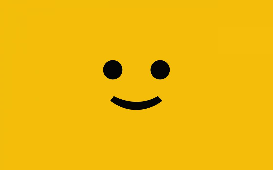 Minimalistic smiling face wallpaper