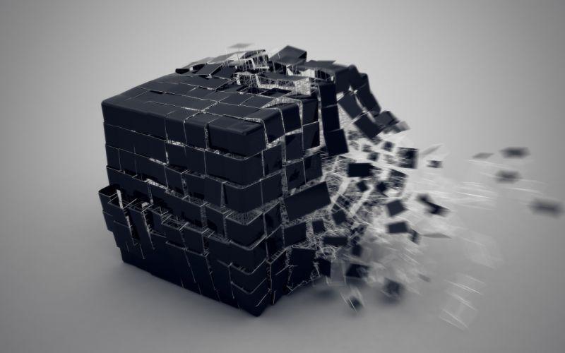 Cube explosion wallpaper