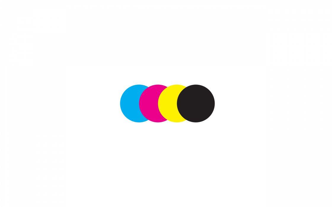 CMYK print colours wallpaper
