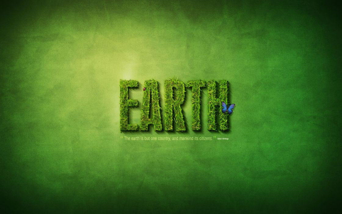 Go green text effect wallpaper