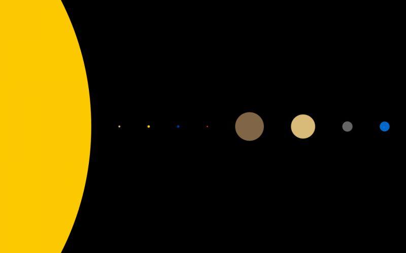 Minimalistic Solar System wallpaper