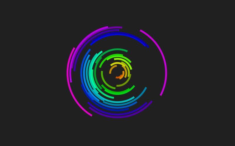 Minimalistic coloured bars wallpaper