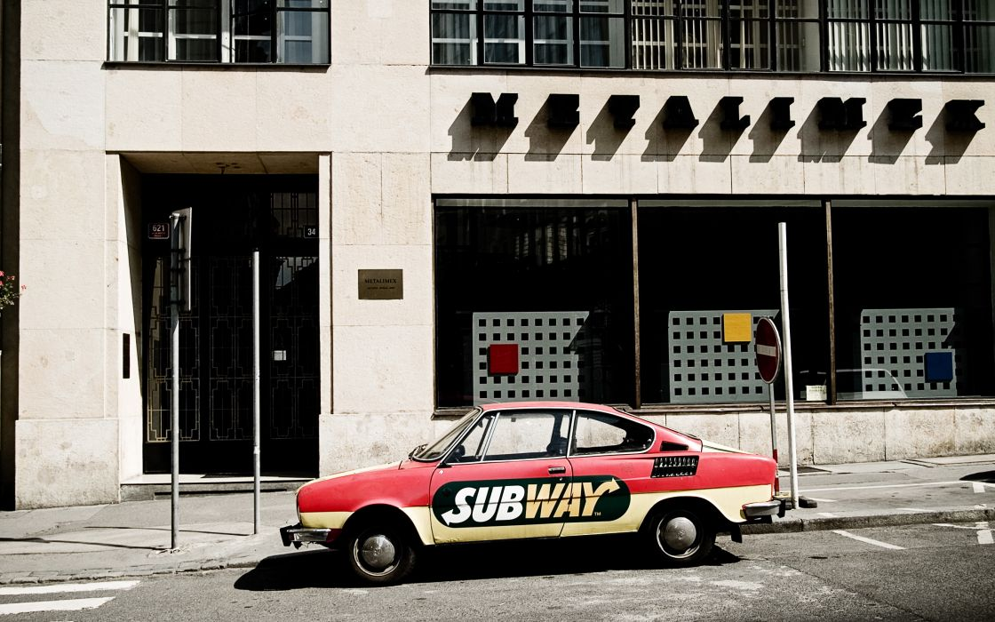 Subway car wallpaper