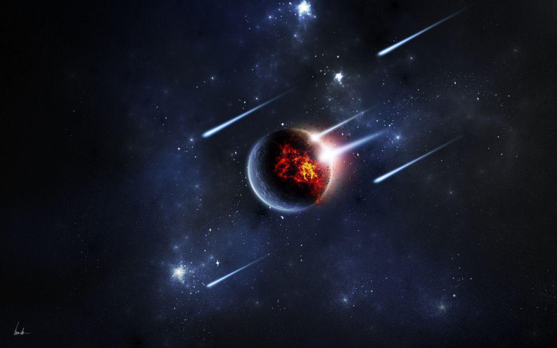 Space meteors wallpaper