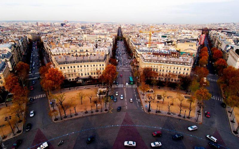 Paris - Aerial view wallpaper