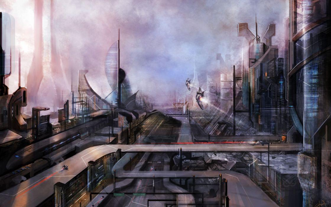 The future of the city - Artwork wallpaper