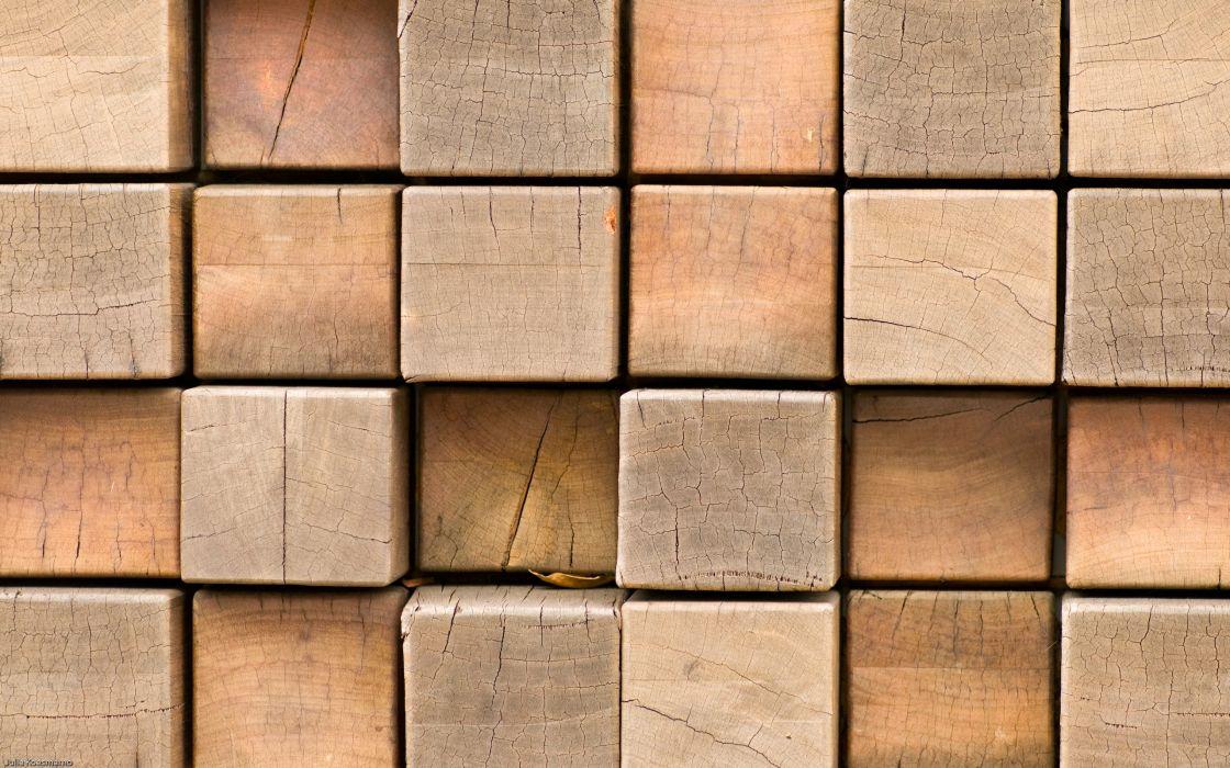 Wooden blocks wallpaper