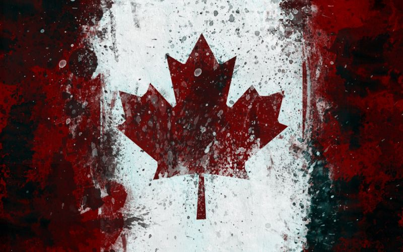 Canadian flag wallpaper