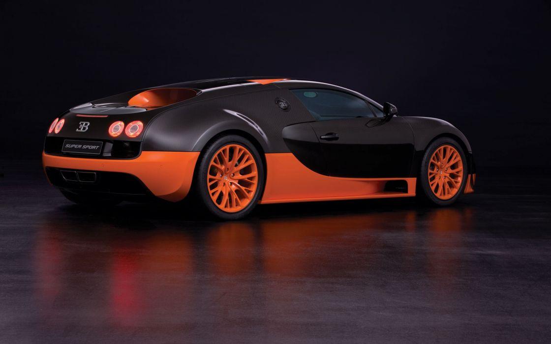 Blank and orange Bugatti Veyron Super Sport wallpaper
