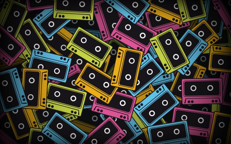 Coloured tapes wallpaper