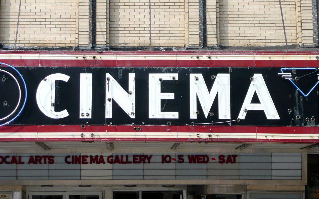 Old cinema sign wallpaper