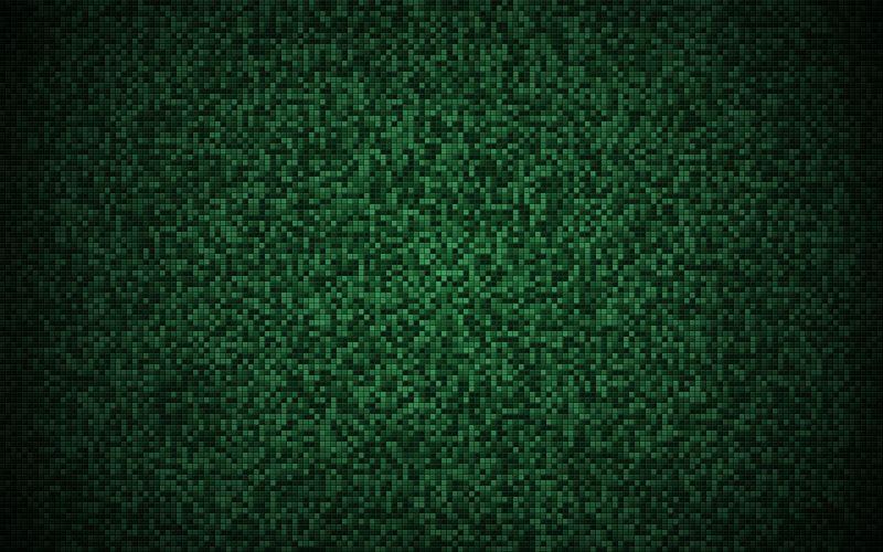 Green mosaic wallpaper