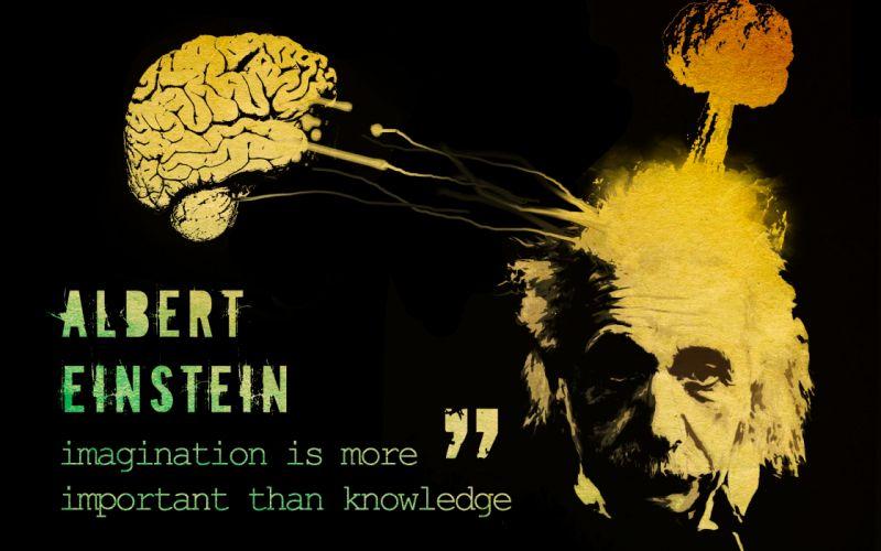 Albert einstein thoughts wallpaper