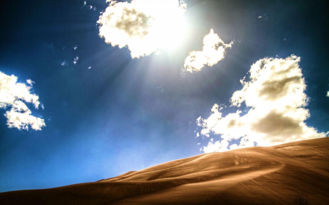 Bright desert wallpaper