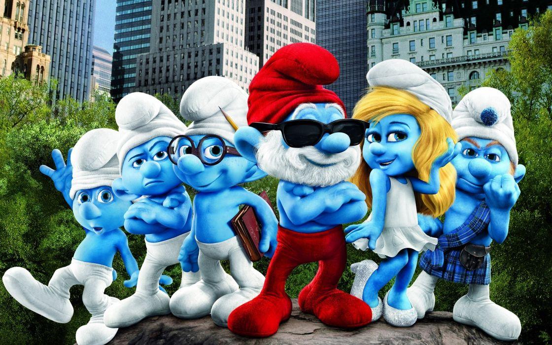 Smurfs movie wallpaper