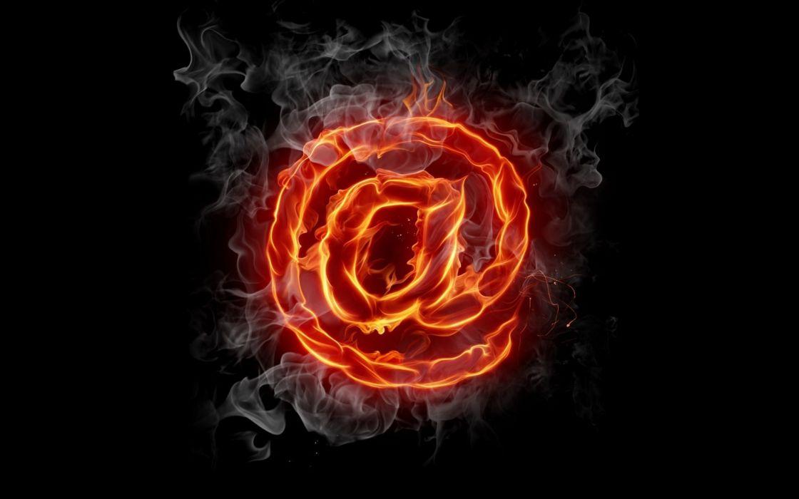 At fire - Internet symbol wallpaper
