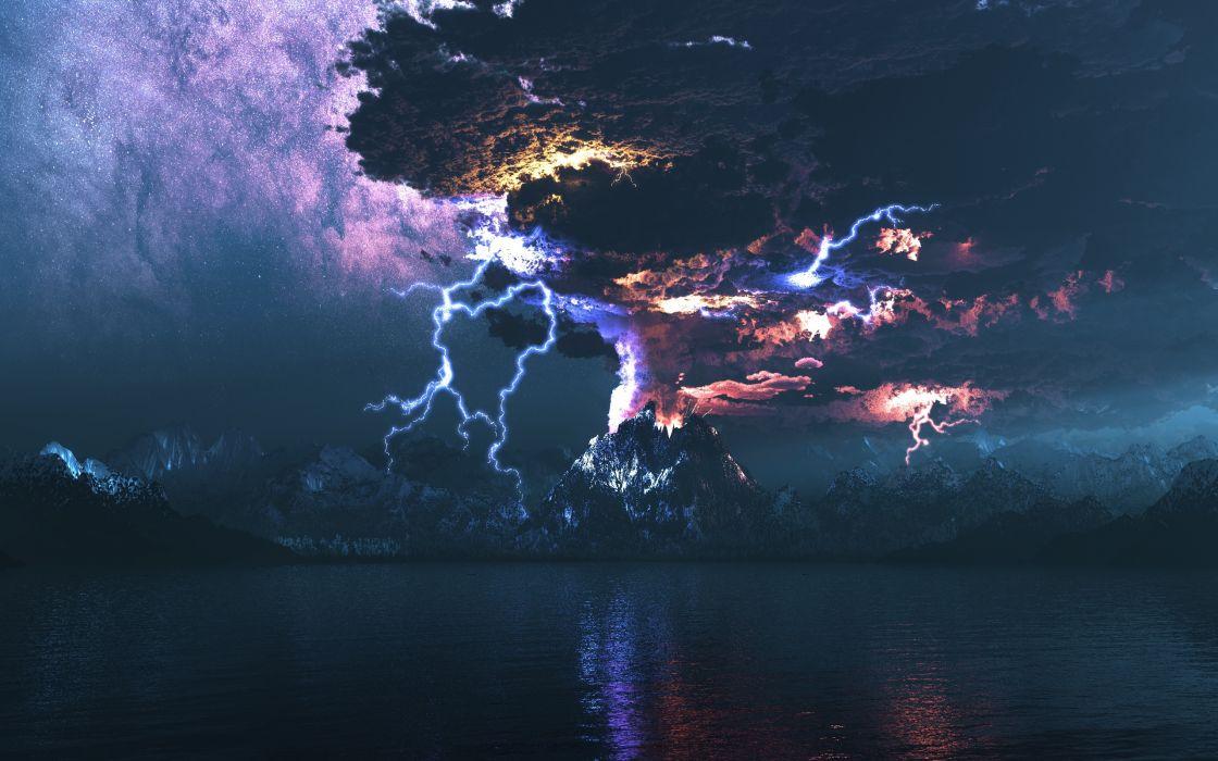 Eruption Of A Volcano wallpaper