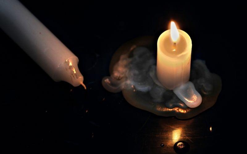 Candle Burning wallpaper