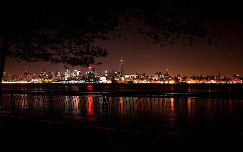 Cityscape at night wallpaper