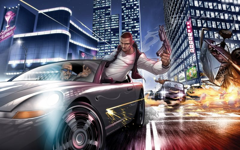 Grand Theft Auto 4 - The ballad of Gay Tony wallpaper