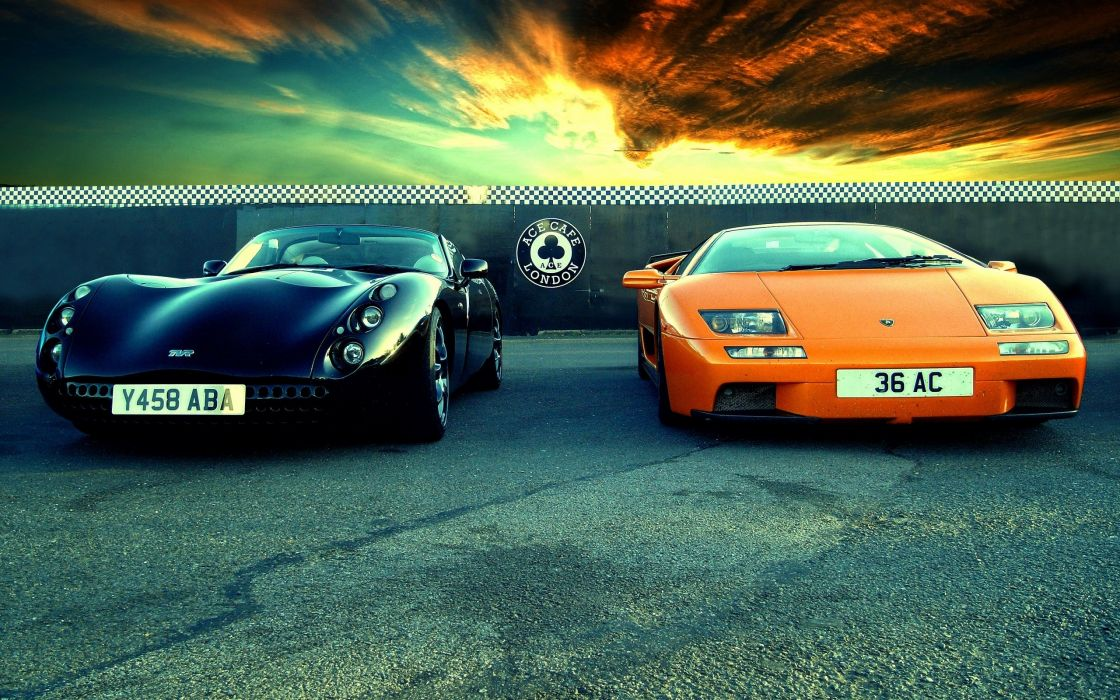 TVR and Lambo wallpaper