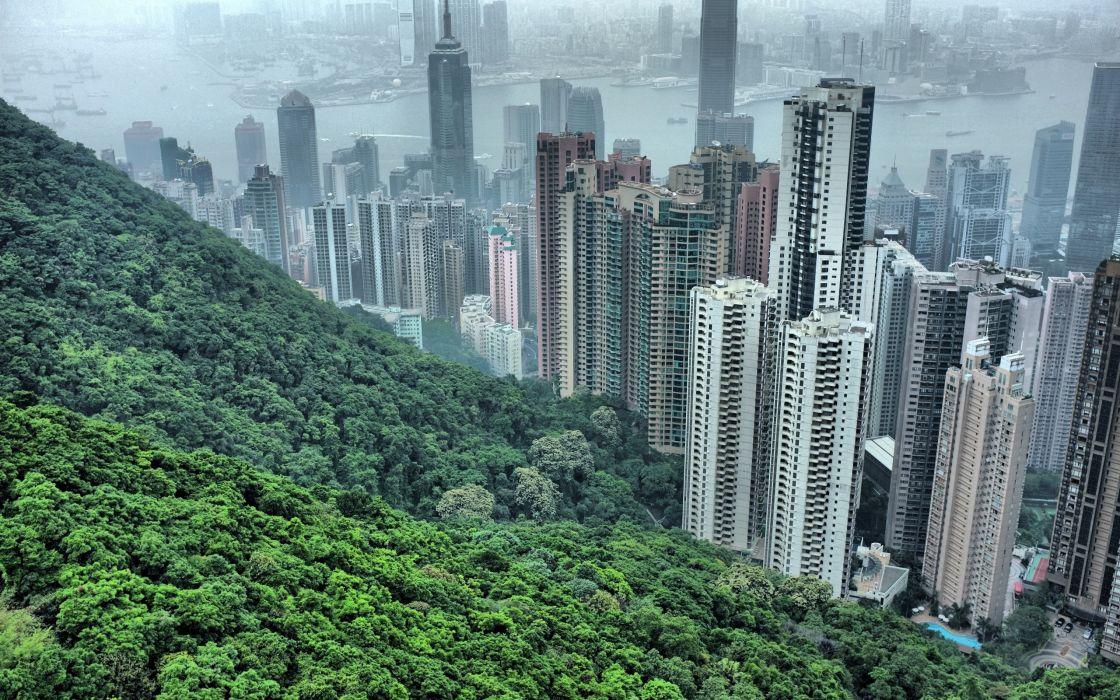 Hong Kong hills wallpaper