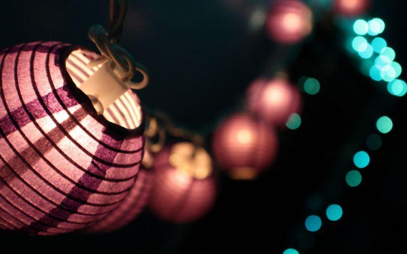 Purple lantern wallpaper