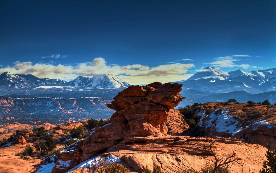 Moab Utah Mountains wallpaper