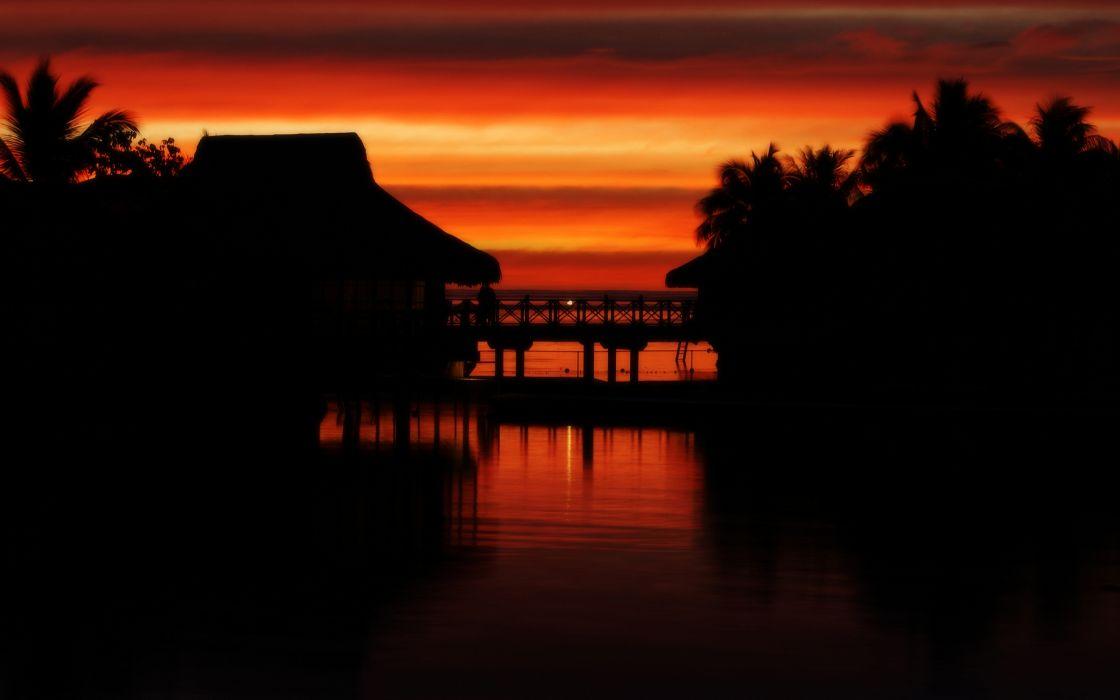 Moorea Sunset wallpaper