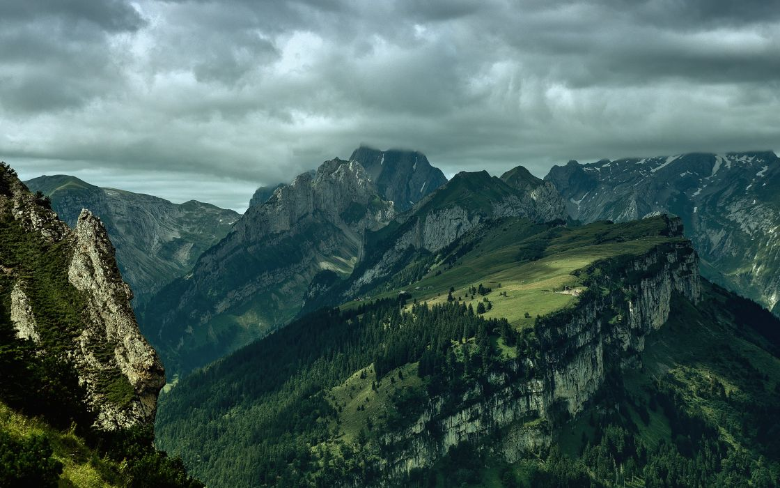 Alpstein before rain - Switzerland wallpaper