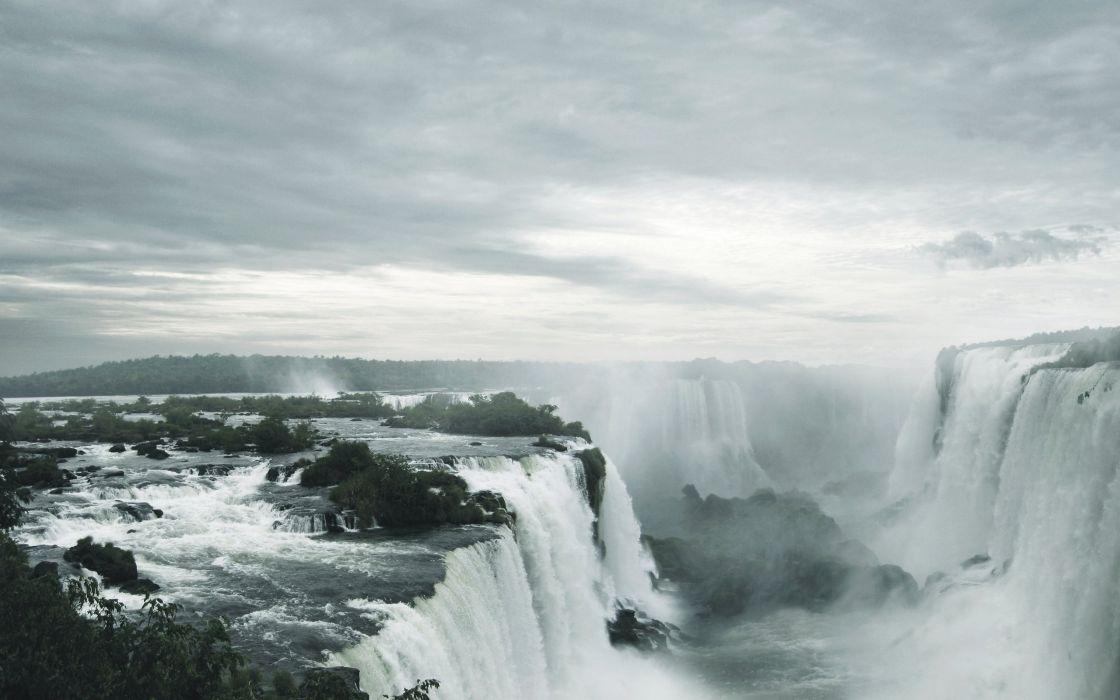 Ignazu waterfalls wallpaper