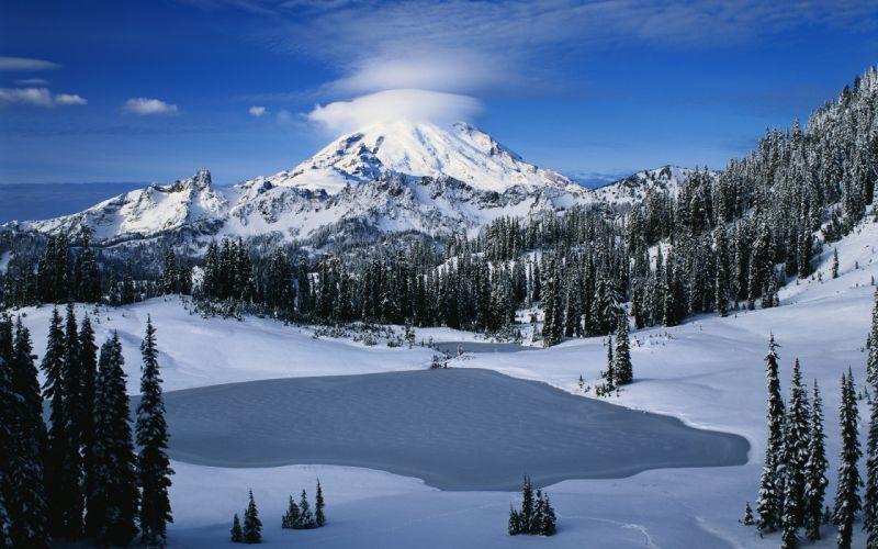 Great Snow Mountain wallpaper