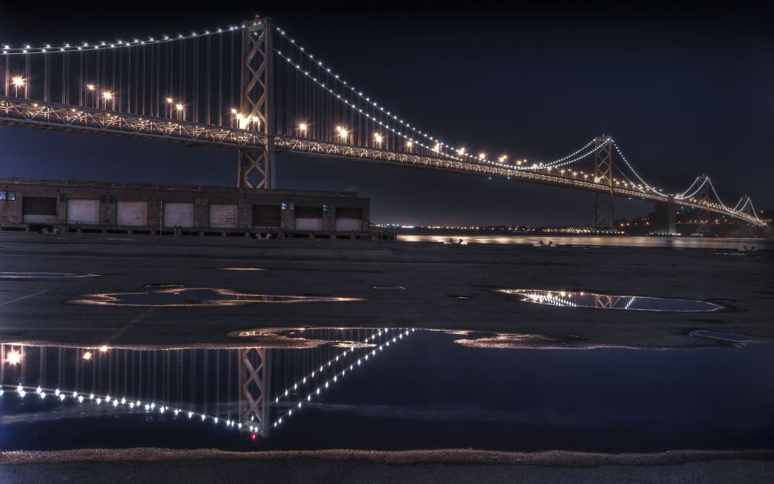 The Bay Bridge Reflecting wallpaper