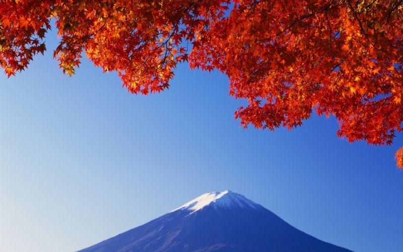 Japanese mountain wallpaper