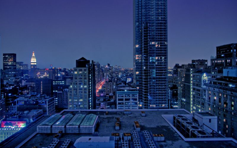 Manhattan at dawn wallpaper