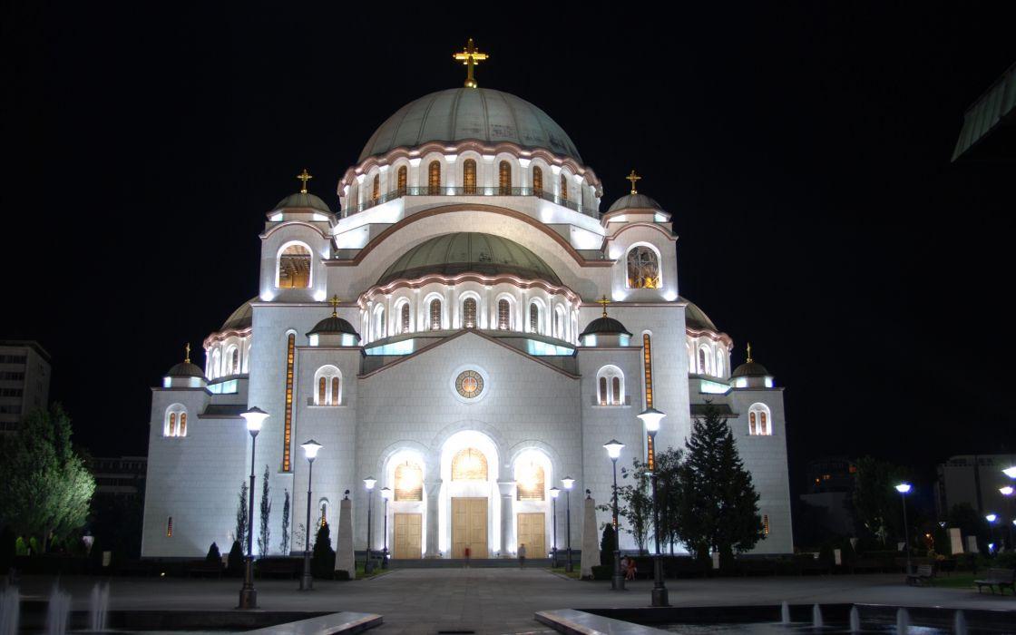 Cathedral of saint sava wallpaper