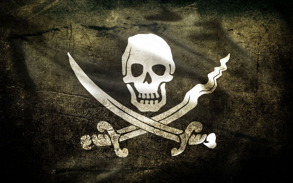 Jolly Roger pirate flag wallpaper