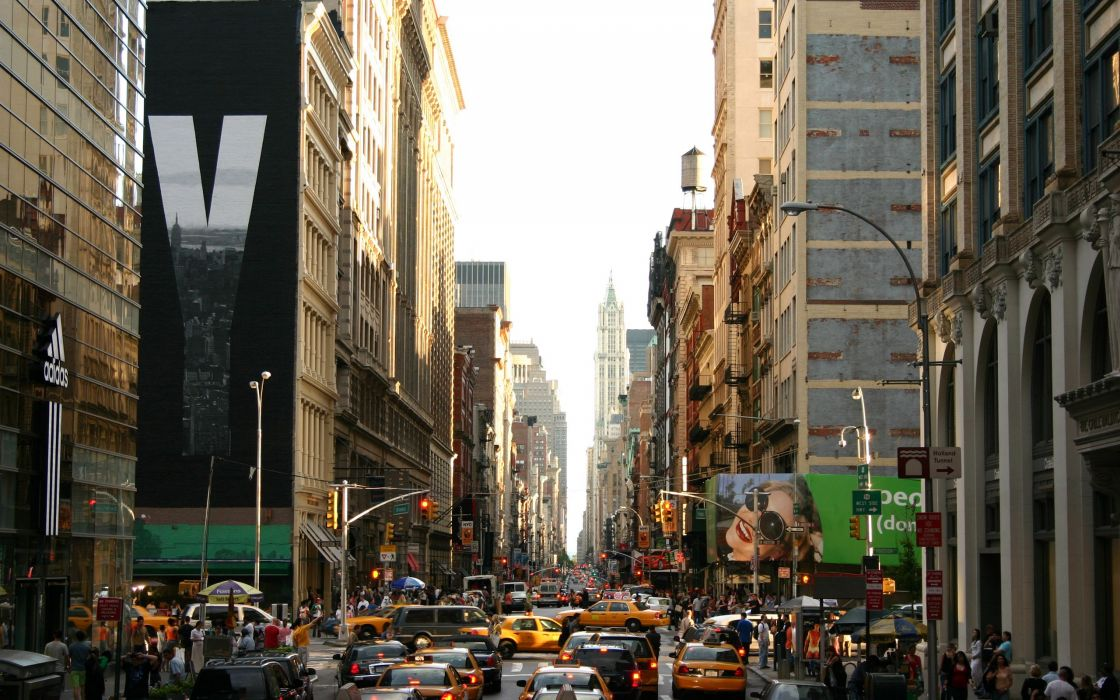 Busy new york wallpaper