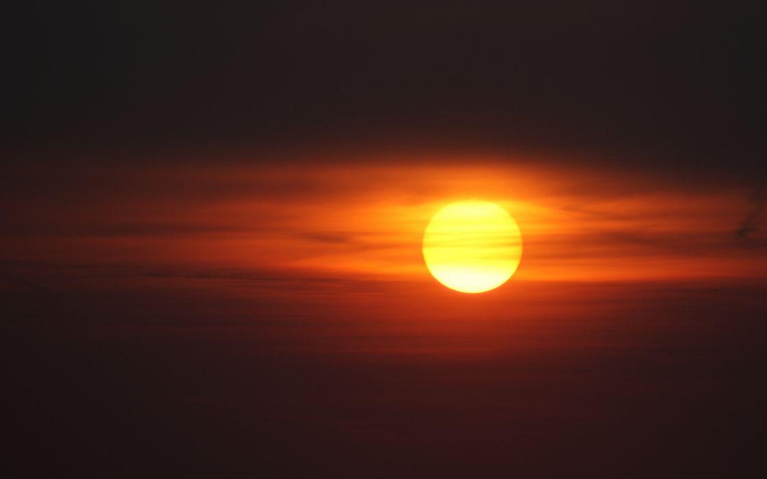 Sunset from balloon wallpaper