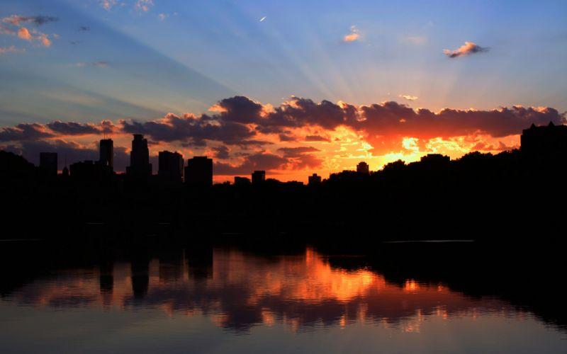 Minneapolis sunset wallpaper